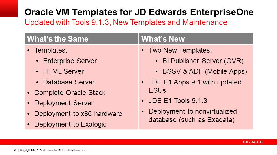 Oracle VM Templates for JD Edwards EnterpriseOne