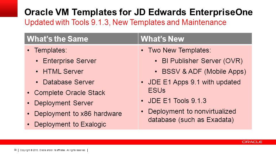 Oracle VM Templates for JD Edwards EnterpriseOne