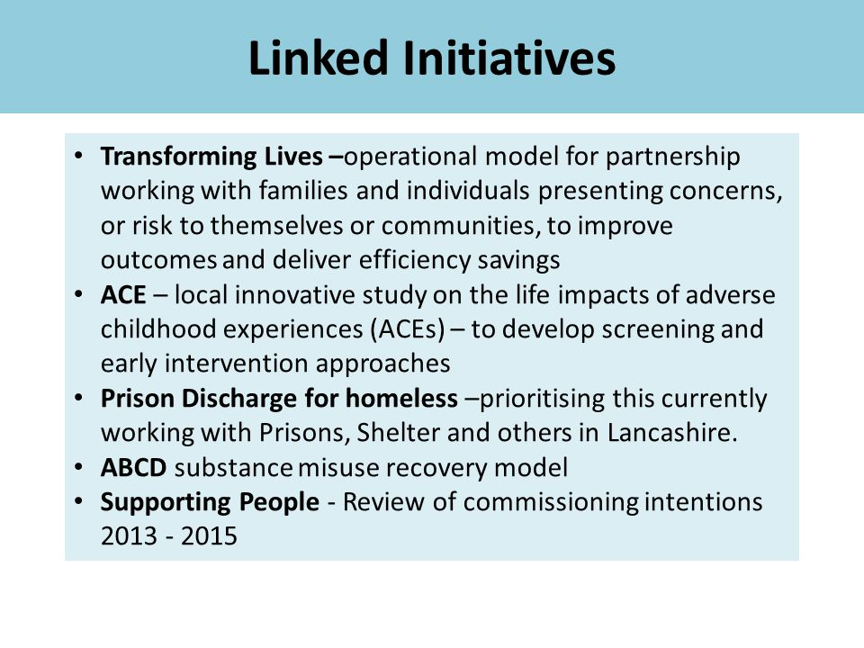 Linked Initiatives