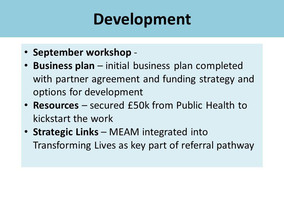Development September workshop -
