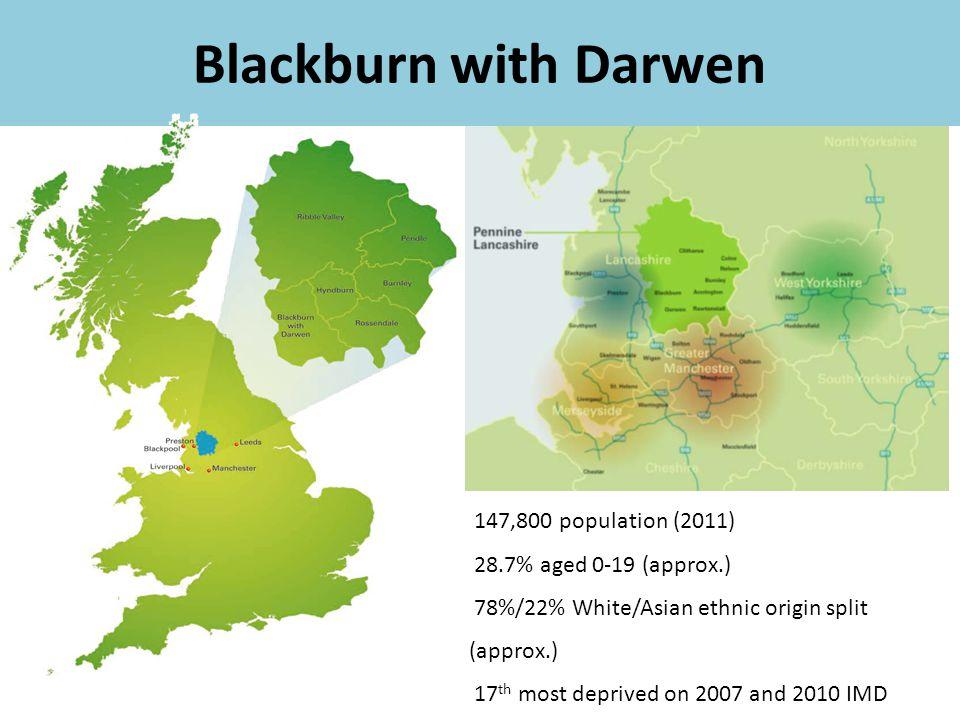 Blackburn with Darwen 147,800 population (2011)