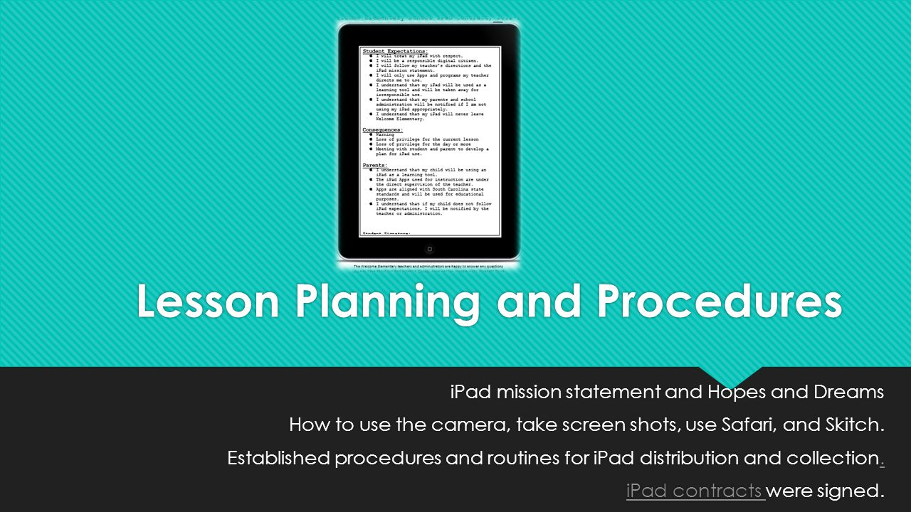 Lesson Planning and Procedures