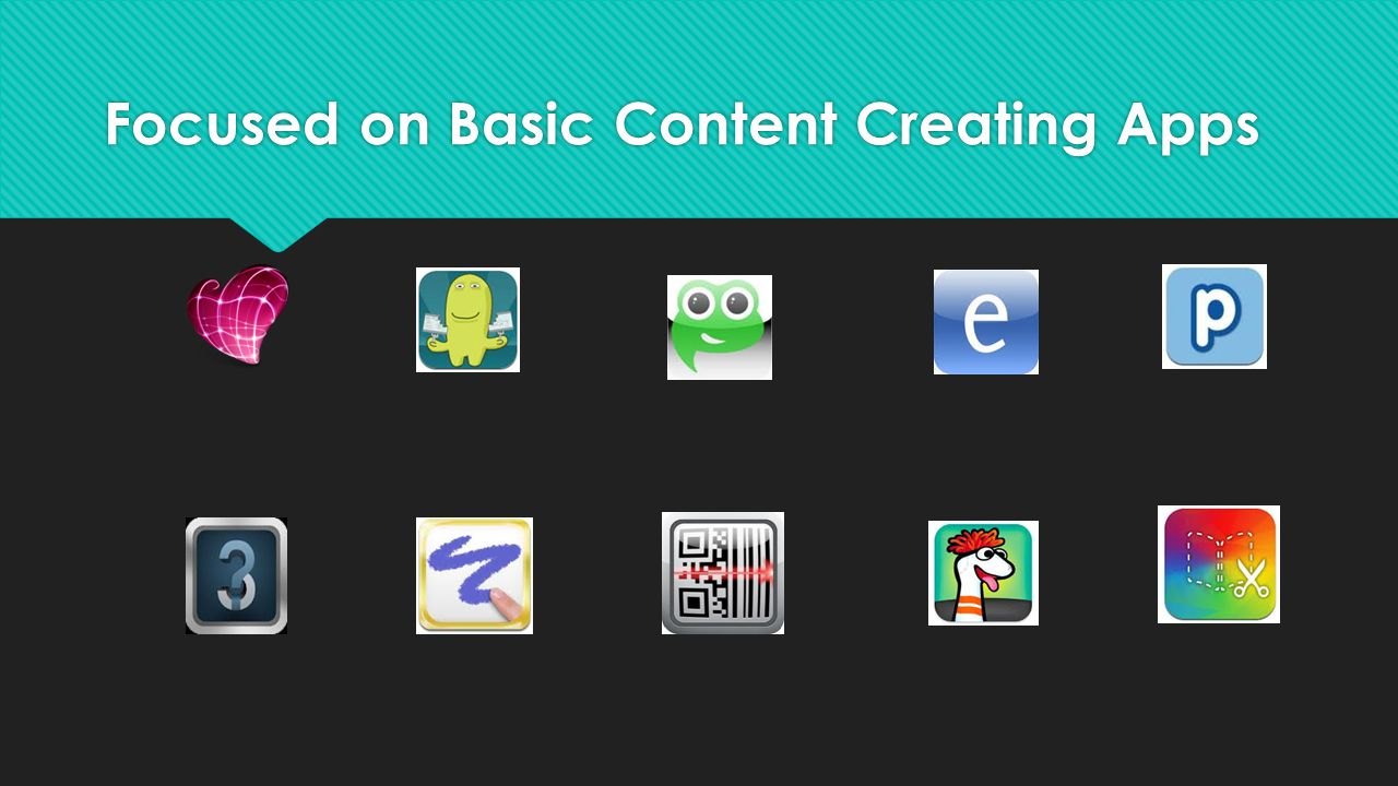 Focused on Basic Content Creating Apps