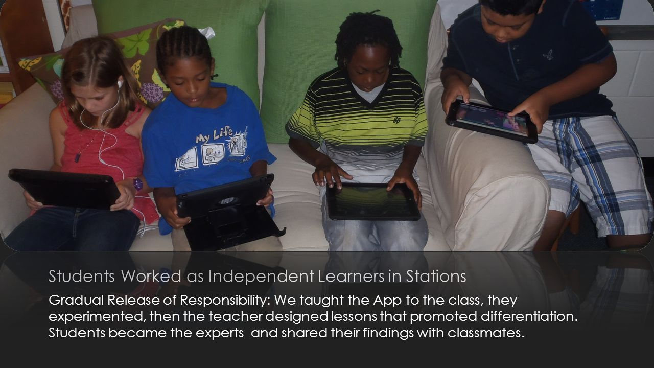 Students Worked as Independent Learners in Stations