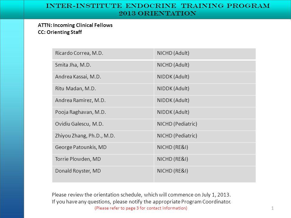 Inter-institute endocrine Training program