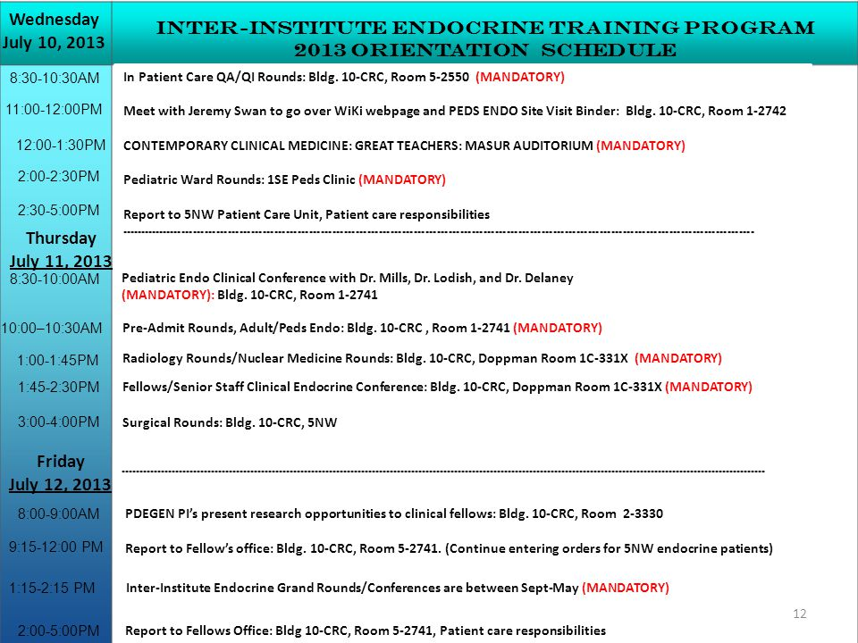 Inter-institute Endocrine Training Program