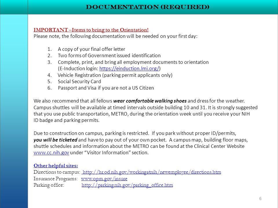 Documentation (required)