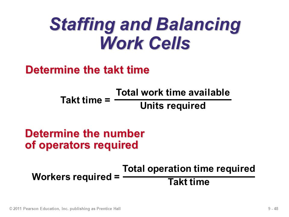 Staffing and Balancing Work Cells