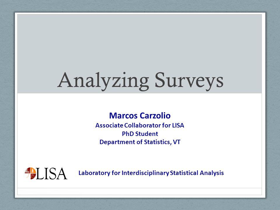 Associate Collaborator for LISA Department of Statistics, VT