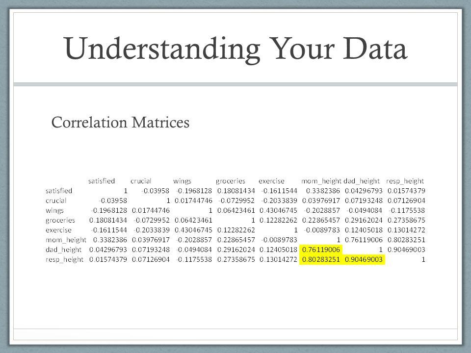 Understanding Your Data