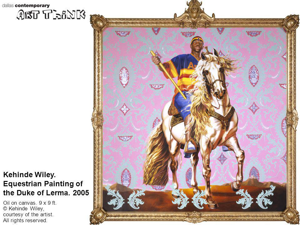 Kehinde Wiley. Equestrian Painting of the Duke of Lerma. 2005.