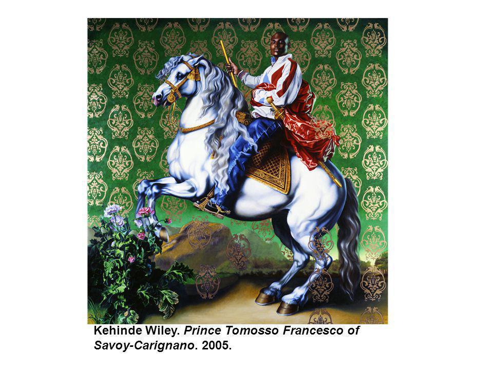 Kehinde Wiley. Prince Tomosso Francesco of Savoy-Carignano. 2005.