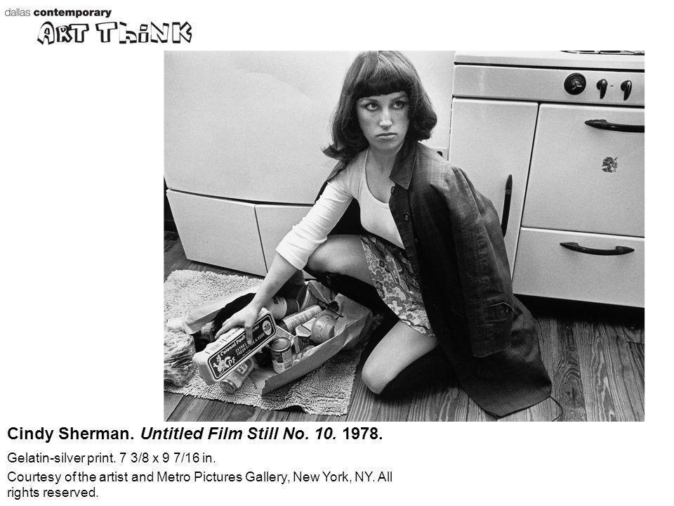 Cindy Sherman. Untitled Film Still No. 10. 1978.
