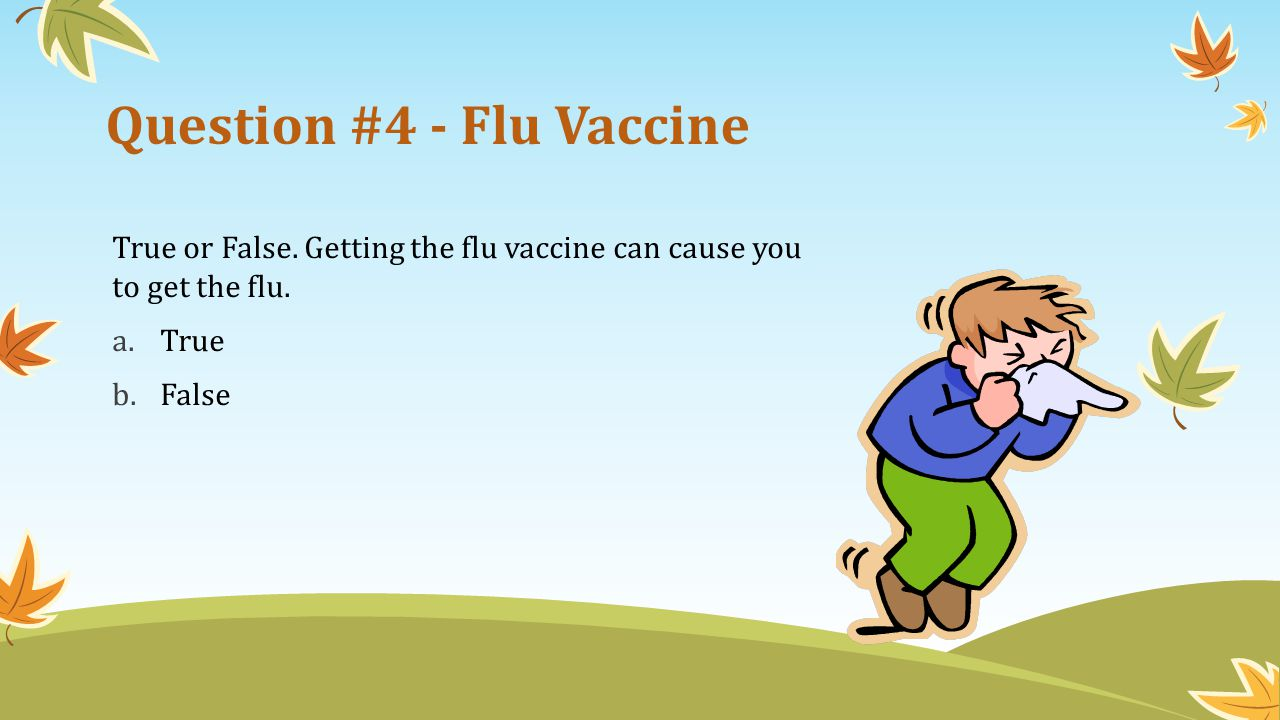 Question #4 - Flu Vaccine