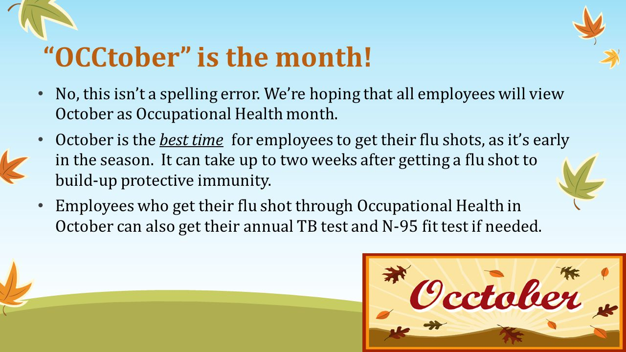 OCCtober is the month!