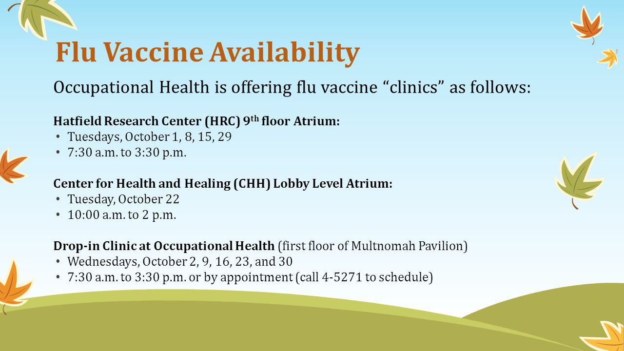 Flu Vaccine Availability