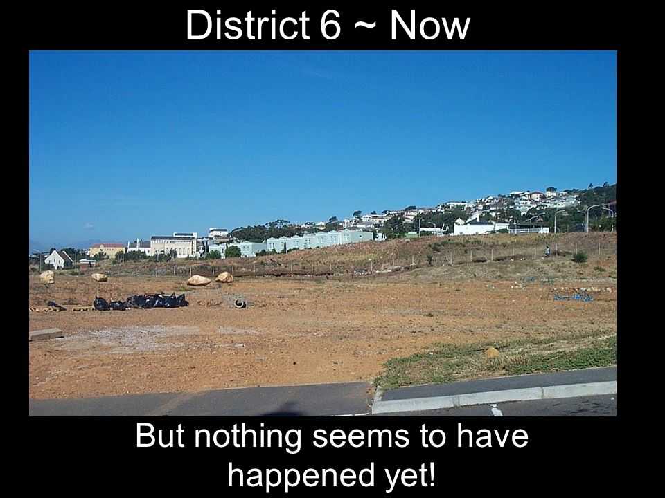 But nothing seems to have happened yet!