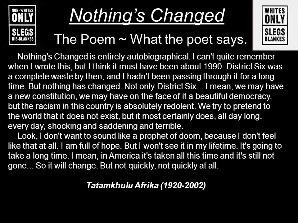 The Poem ~ What the poet says.