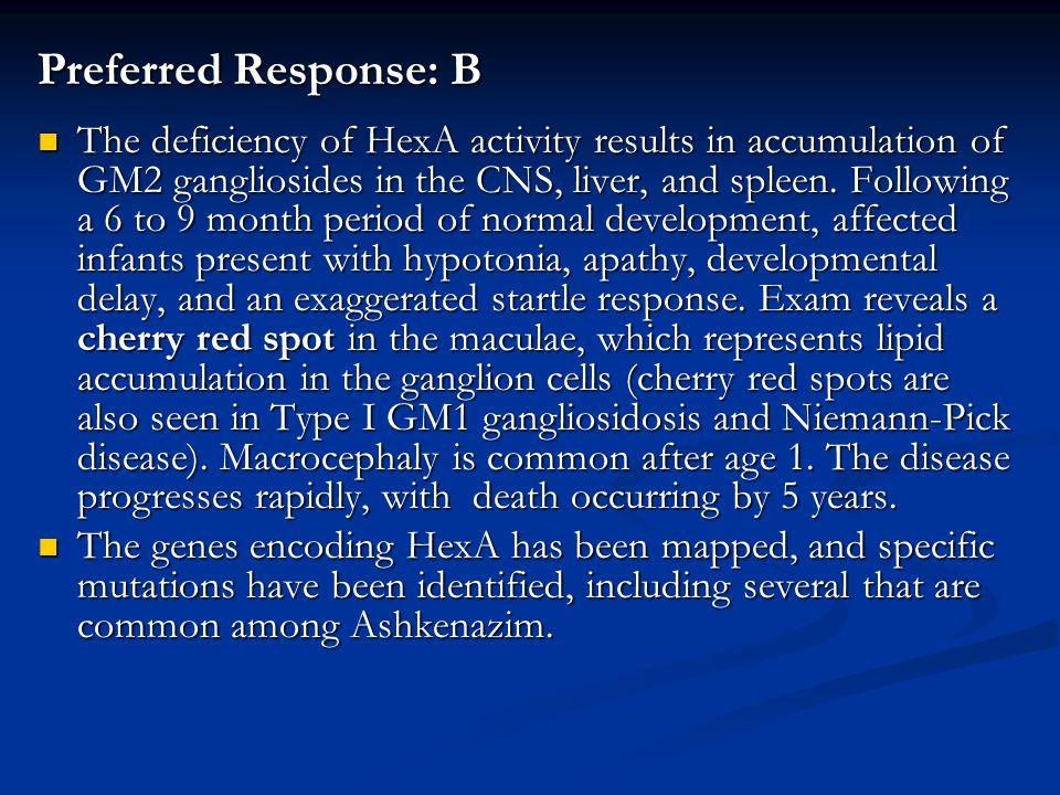 Preferred Response: B