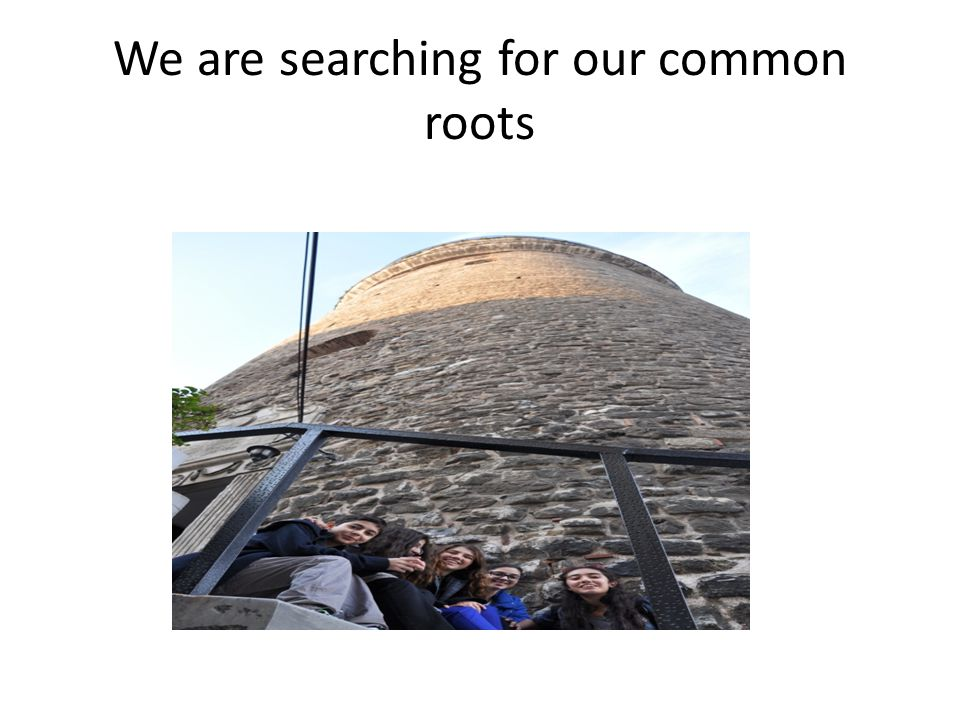 We are searching for our common roots