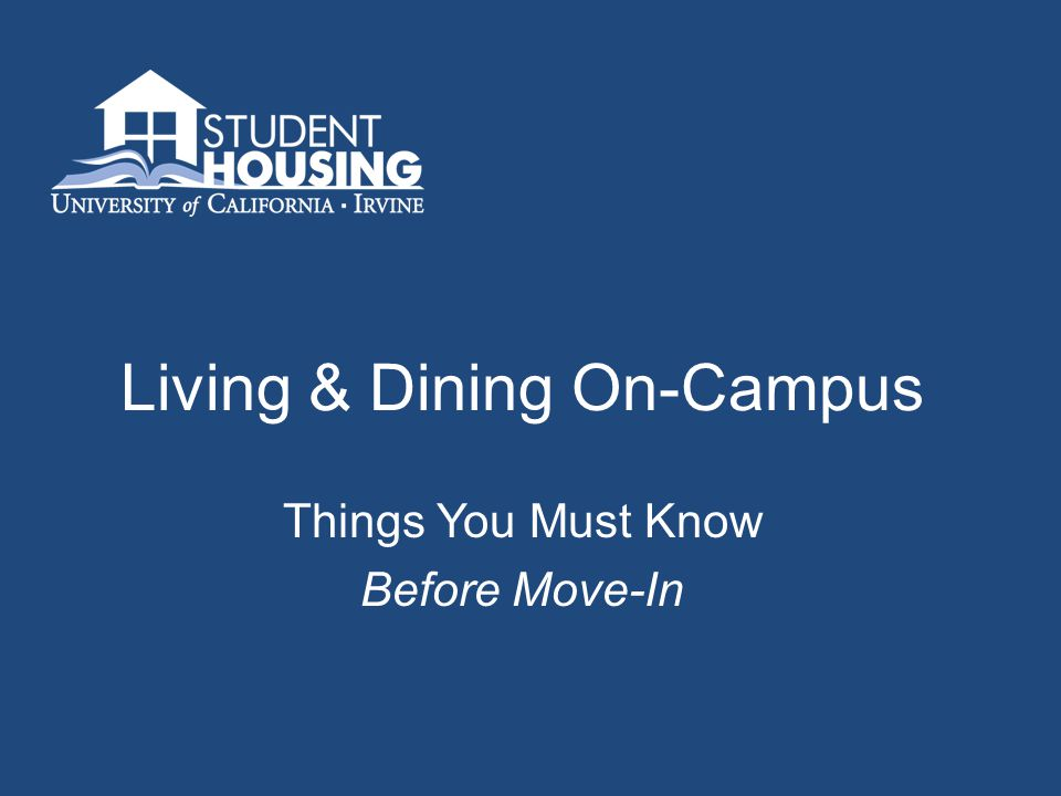 Living & Dining On-Campus