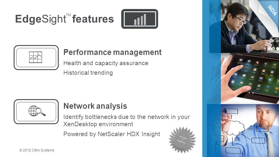 EdgeSight features Performance management Network analysis