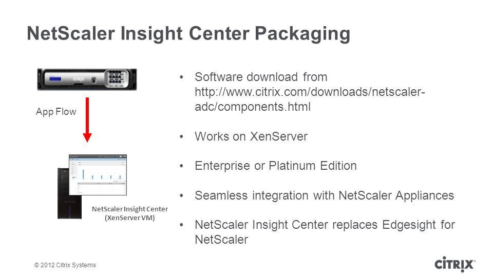 NetScaler Insight Center Packaging