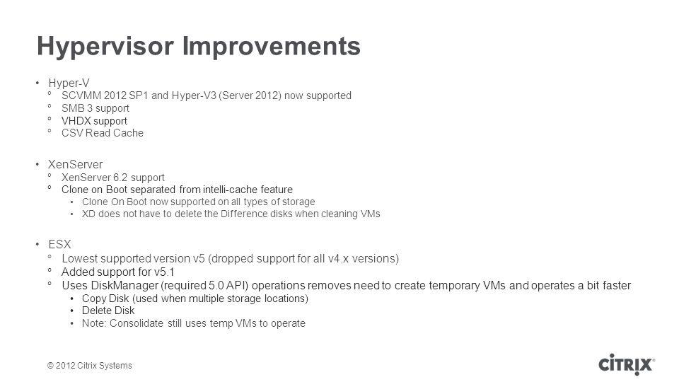 Hypervisor Improvements
