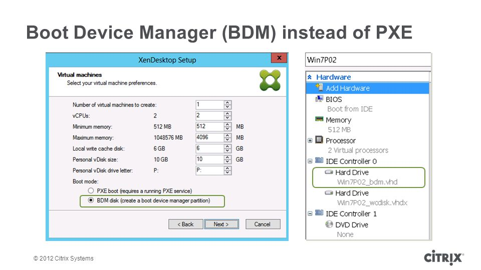 Boot Device Manager (BDM) instead of PXE