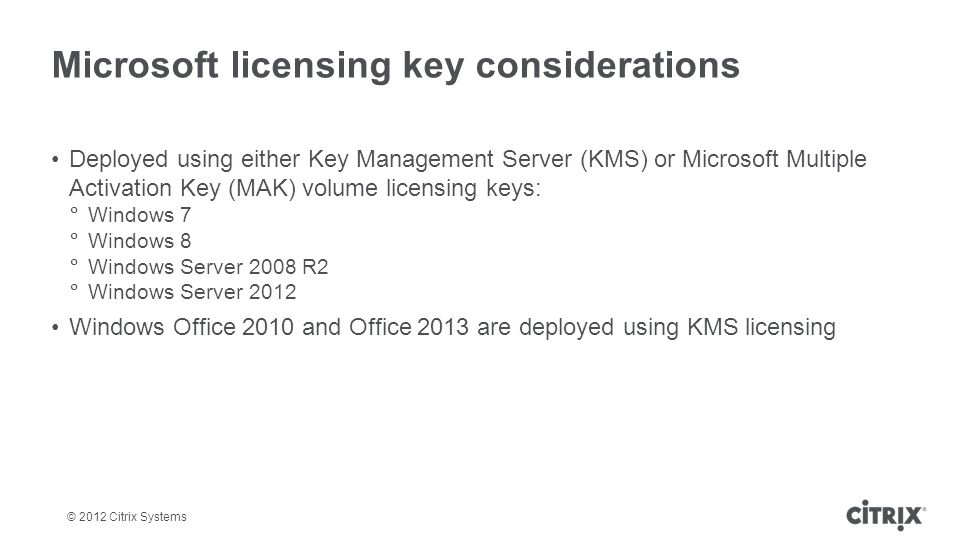 Microsoft licensing key considerations