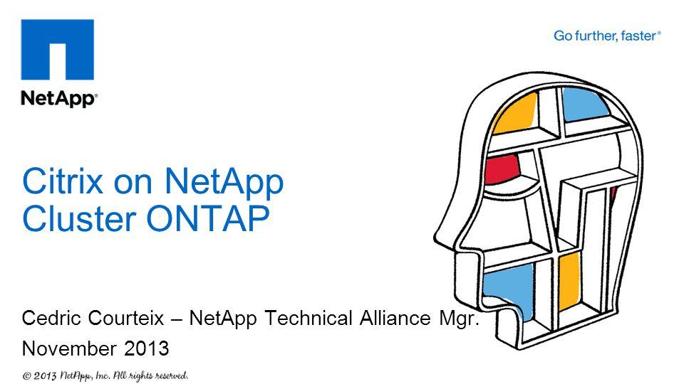 Citrix on NetApp Cluster ONTAP