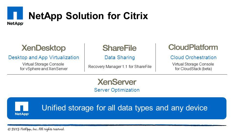 NetApp Solution for Citrix