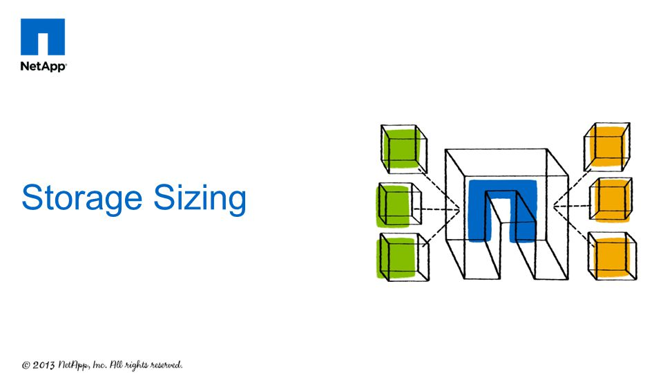 Storage Sizing Assessment and sizing is key to any successful deployment.