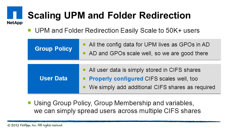 Scaling UPM and Folder Redirection