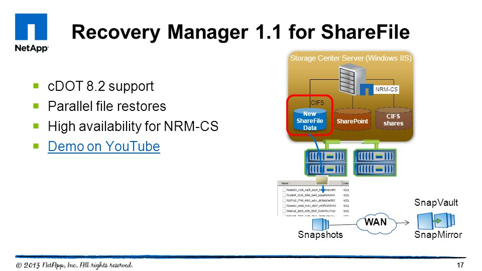 Recovery Manager 1.1 for ShareFile