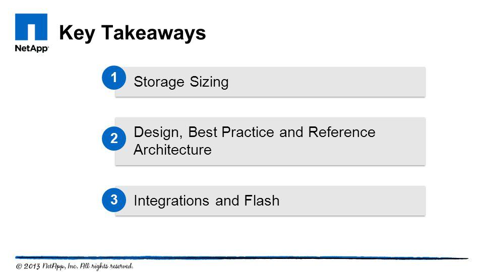 Key Takeaways Storage Sizing