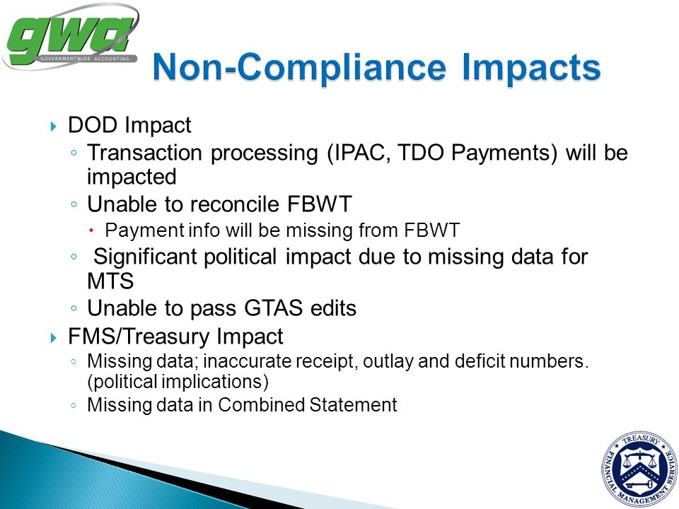 Non-Compliance Impacts