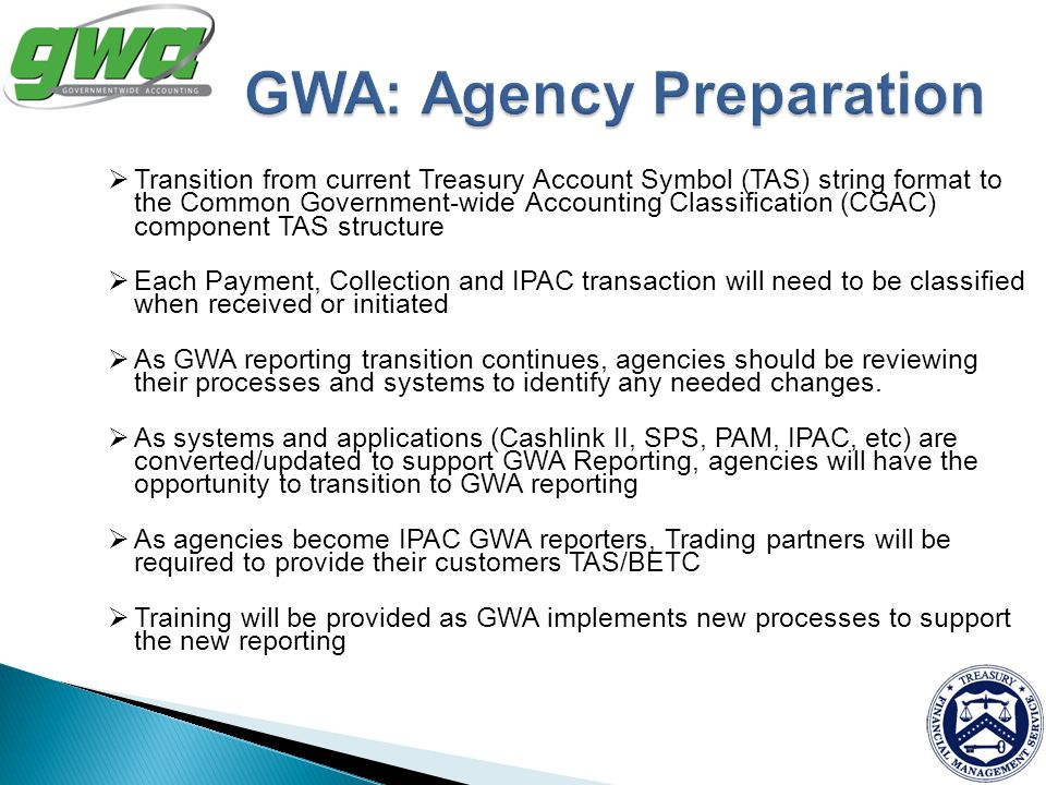 GWA: Agency Preparation