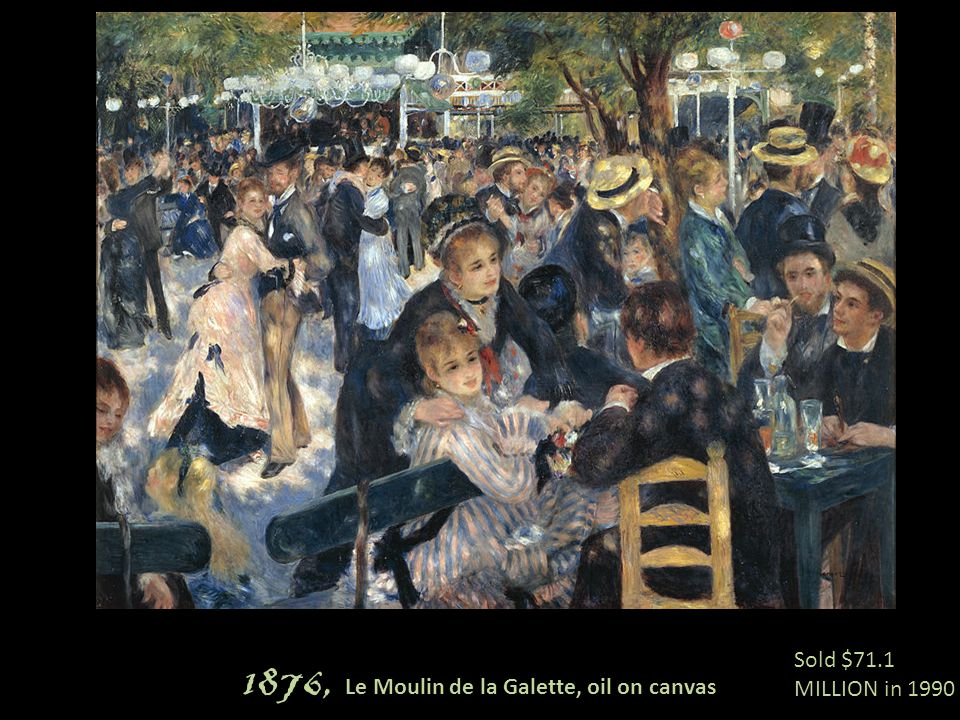 1876, Le Moulin de la Galette, oil on canvas