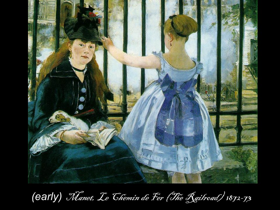 (early) Manet, Le Chemin de Fer (The Railroad)