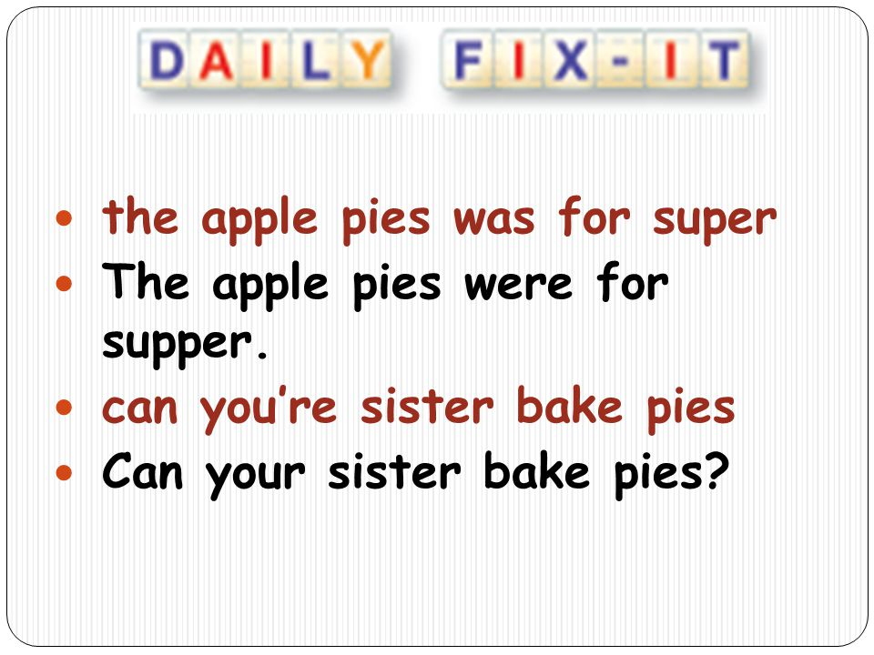 the apple pies was for super