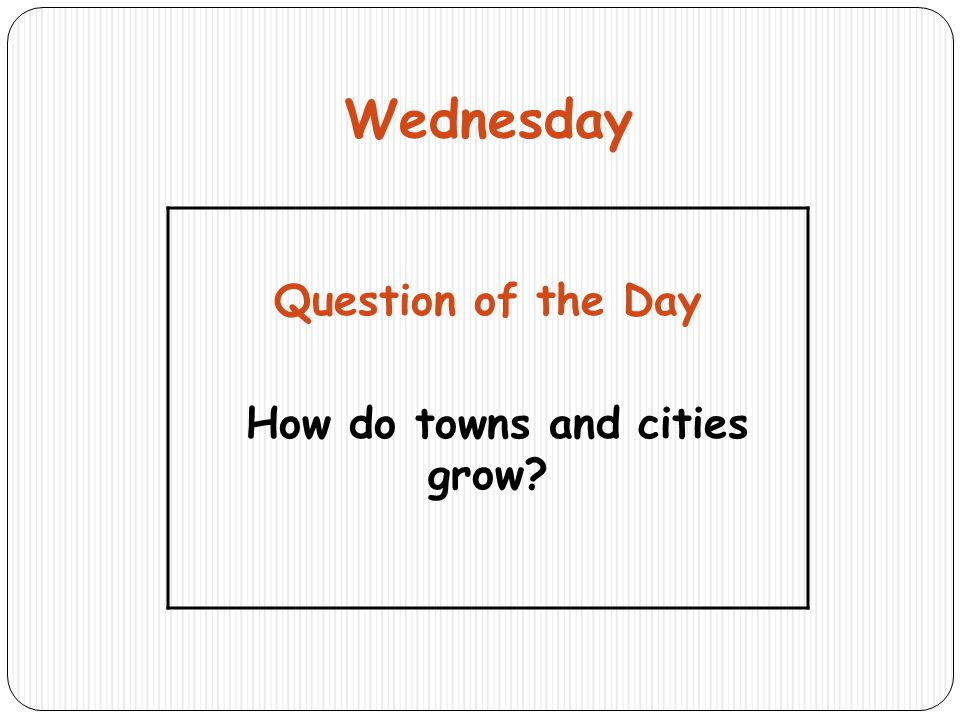 How do towns and cities grow