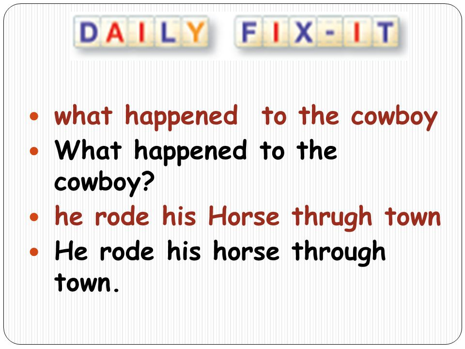 what happened to the cowboy
