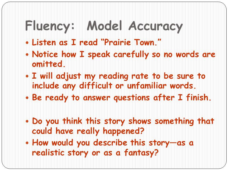 Fluency: Model Accuracy