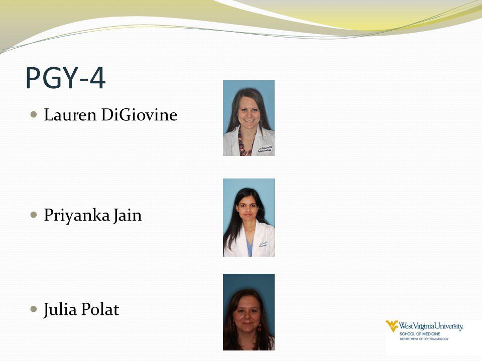 PGY-4 Lauren DiGiovine Priyanka Jain Julia Polat