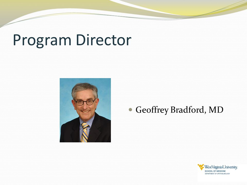 Program Director Geoffrey Bradford, MD