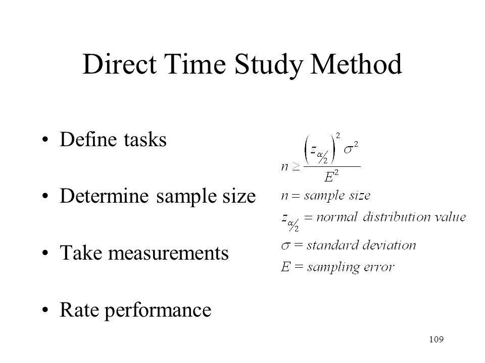 Direct Time Study Method