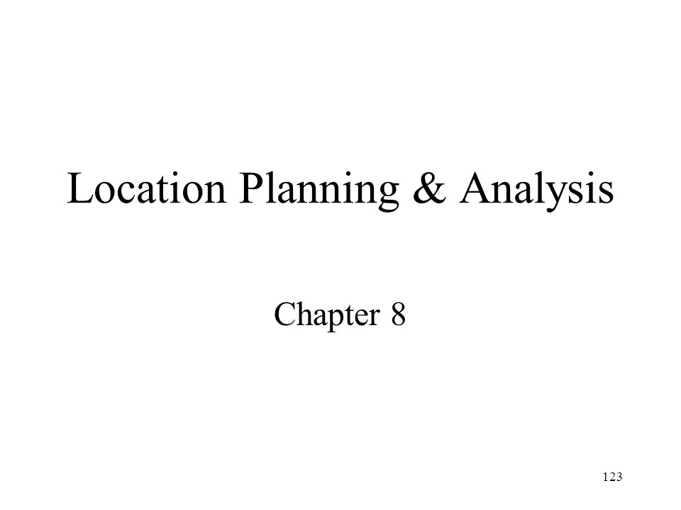 Location Planning & Analysis