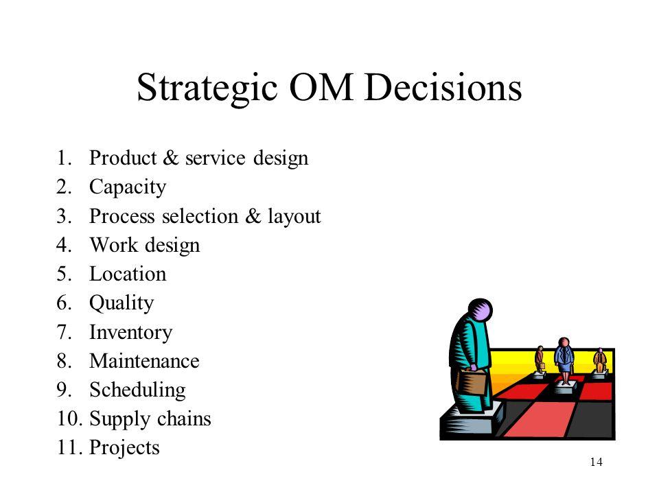 Strategic OM Decisions