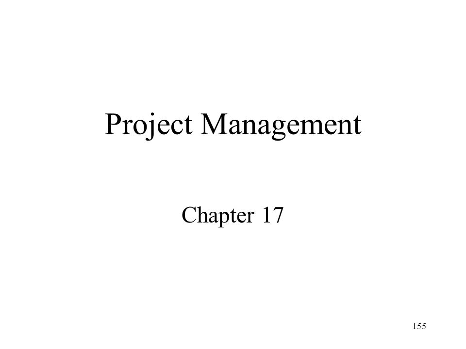 Project Management Chapter 17